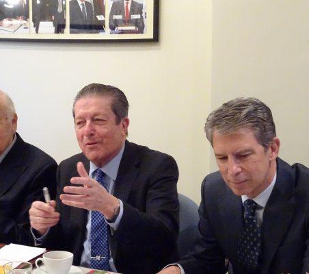 Antonio de Oyarzábal, Federico Mayor Zaragoza y José Ignacio Salafranca