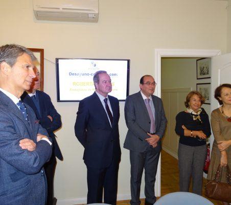 José Ignacio Salafranca, Carsten Moser, Ángel Galán, Carlos Ávila, Luisa Peña y Cecilia Yuste