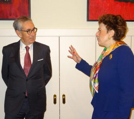 Ramón Jáuregui y Roberta Lajous