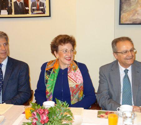 José Ignacio Salafranca, Roberta Lajous y Juan Pablo de Laiglesia