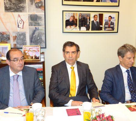 Carlos Ávila, José Humberto Solorza y José Ignacio Salafranca