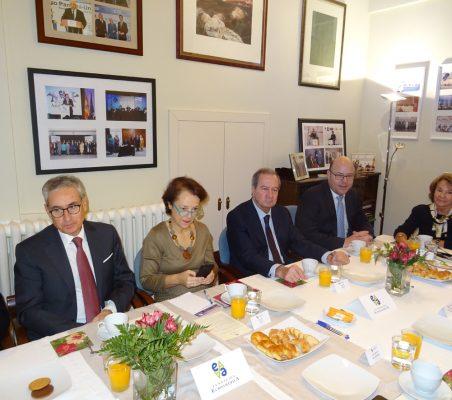 Ramón Jáuregui, Cecilia Yuste, Ángel Galán, Víctor Baz y Luisa Peña