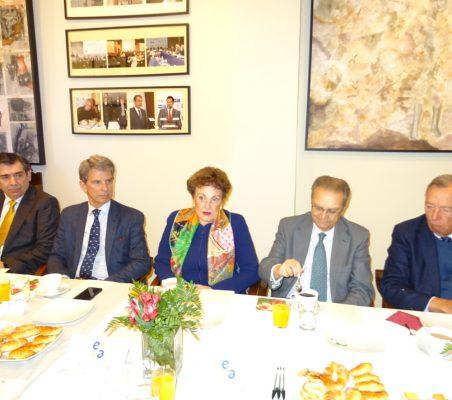 José Humberto Solorza, José Ignacio Salafranca, Roberta Lajous, Juan Pablo de Laiglesia y Carsten Moser
