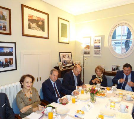 Ramón Jáuregui, Cecilia Yuste, Ángel Galán, Víctor Baz, Luisa Peña y Óscar Díaz-Canel