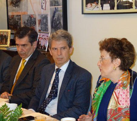 José Humberto Solorza, José Ignacio Salafranca y Roberta Lajous