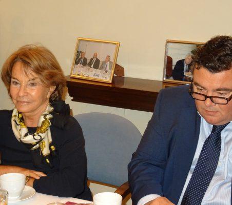 Luisa Peña y Óscar Díaz-Canel