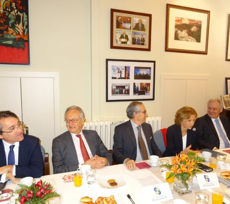 Héctor Flórez, Ángel Durández, Ramón Jáuregui, Elena Salgado y Germán Ríos