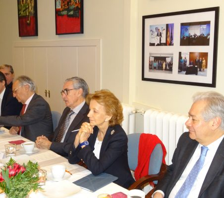 Jesús Urdangaray, Héctor Flórez, Ángel Durández, Ramón Jáuregui, Elena Salgado y Germán Ríos
