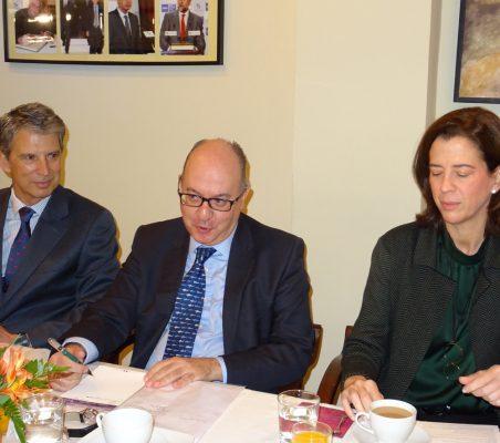 José Ignacio Salafranca, José María Roldán y Alexandra Kindelán