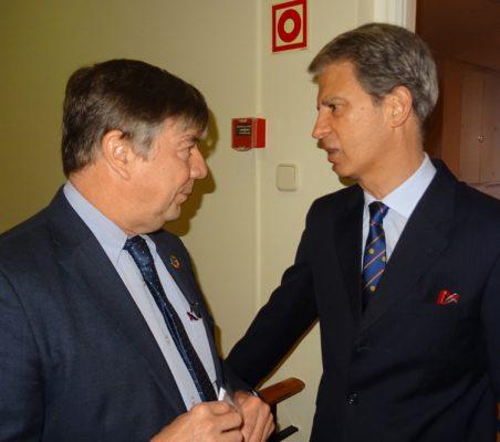 José Antonio Sanahuja y José Ignacio Salafranca