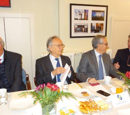 Eduardo Pérez del Solar, Ángel Durández, Ramón Jáuregui y José Ignacio Salafranca