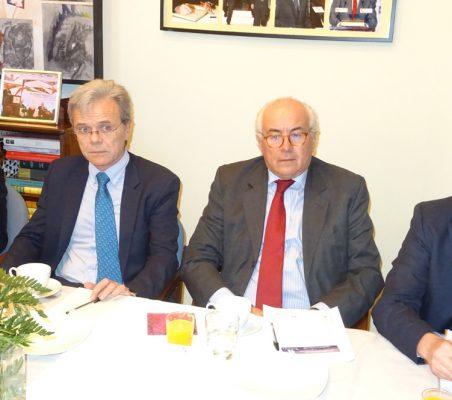 Gloria Mínguez, Juan Agustín Alberro, Eduardo Michel y José Antonio Sanahuja