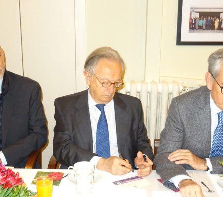 Eduardo Pérez del Solar, Ángel Durández y Ramón Jáuregui