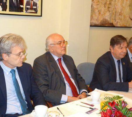 Juan Agustin Alberro, Eduardo Michel, José Antonio Sanahuja y Carsten Moser