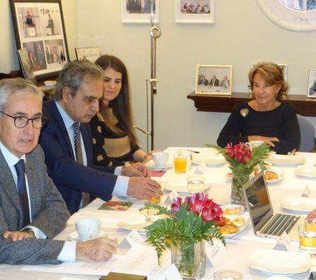 Ramón Jáuregui, Luis Fernando Álvarez-Gascón, Ana Blanco y Luisa Peña