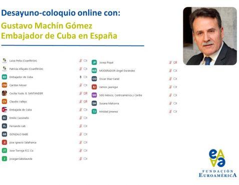 Asistentes al Desayuno con el Embajador de Cuba