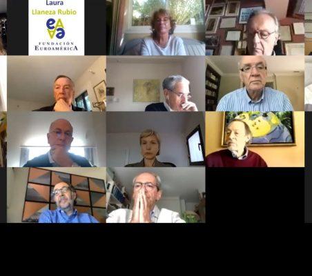 Participantes en el Desayuno online