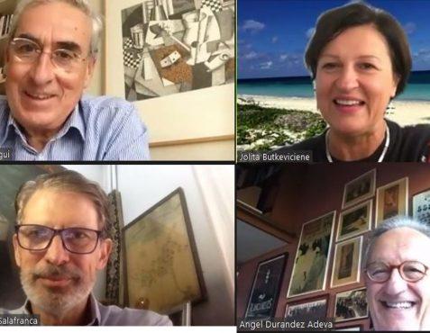 Ramón Jáuregui, Jolita Butkeviciene,  José Ignacio Salafranca y Ángel Durández