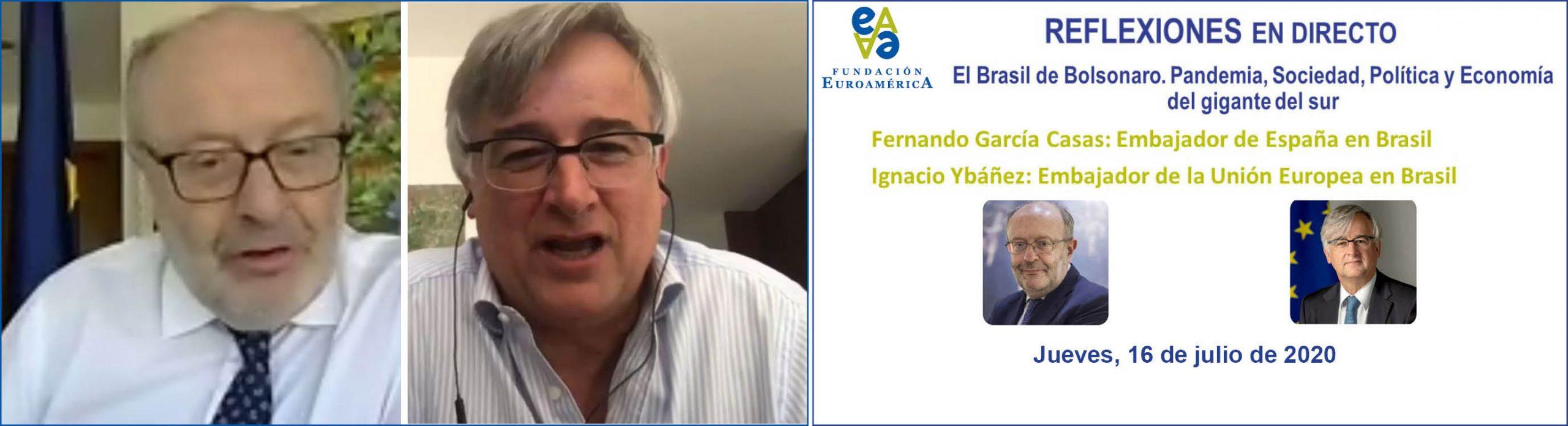 Coloquio online, con Embajadores en Brasil