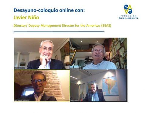 Ramón Jáuregui, Ángel Durández, José Ignacio Salafranca y Javier Niño