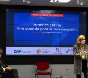 El Presidente de la Fundación Euroamérica y la Vicepresidenta Nadia Calviño