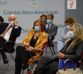 José Antonio García Belaunde, Cristina Gallach y Trinidad Jiménez