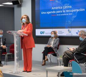 La Secretaria General Iberoamericana inaugurando el acto