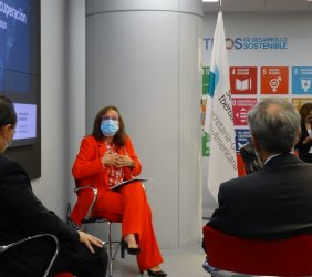 Luis Carranza (CAF) Rebeca Grynspan