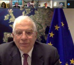 Josep Borrell durante el acto