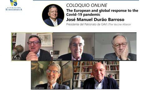 José Barroso, Ramón Jáuregui, Ángel Durández José Ignacio Salafranca y Joaquín Almunia
