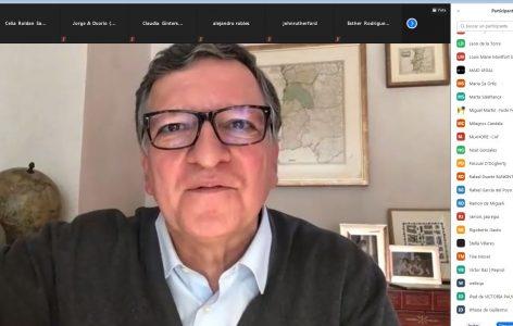 José Manuel Barroso durante su intervención