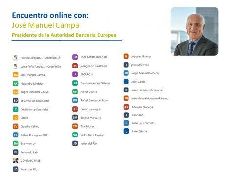 Participantes en el coloquio con José Manuel Campa