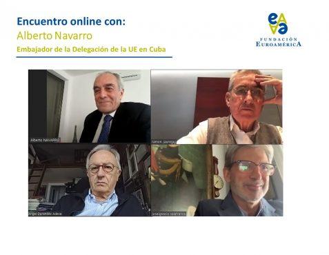 Alberto Navarro, Ramón Jáuregui, Ángel Durández y José Ignacio Salafranca