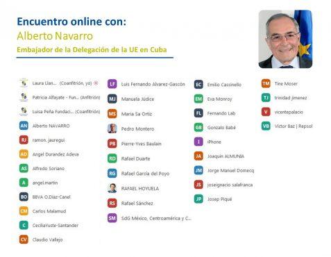 Asistentes al Encuentro Online con Alberto Navarro