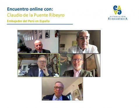 Embajador Claudio de la Puente, Ramón Jáuregui, Ángel Durández, José Ignacio Salafranca y Carsten Moser