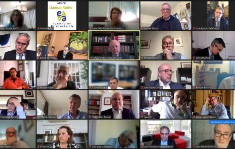 Participantes en el encuentro online 1