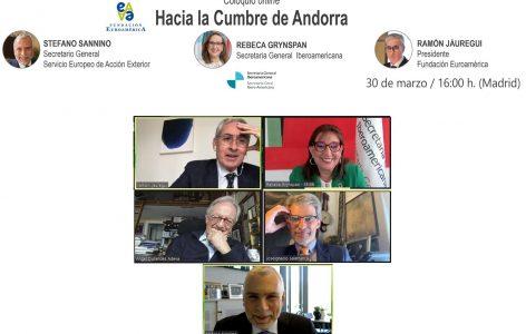 Ramón Jáuregui, Rebeca Grynspan, Ángel Durández, José Ignacio Salafranca y Stefano Sannino