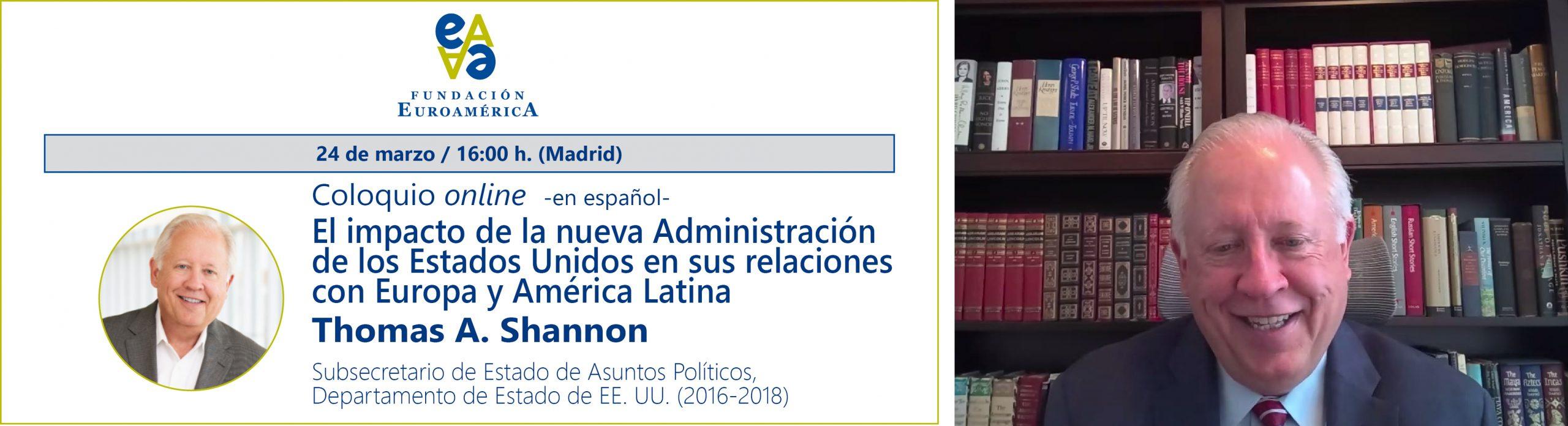Coloquio online con Thomas A. Shannon