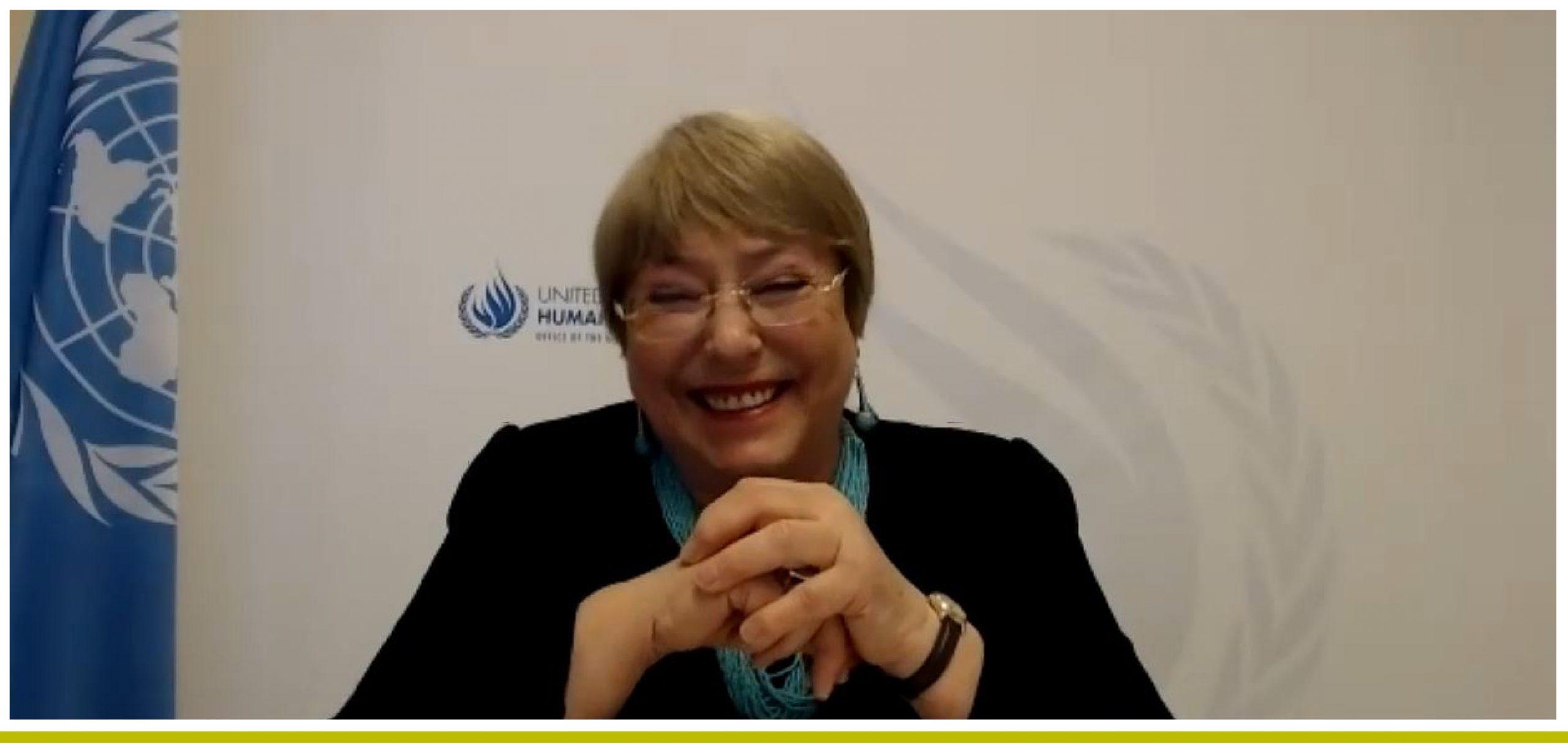 Coloquio online. Michelle Bachelet