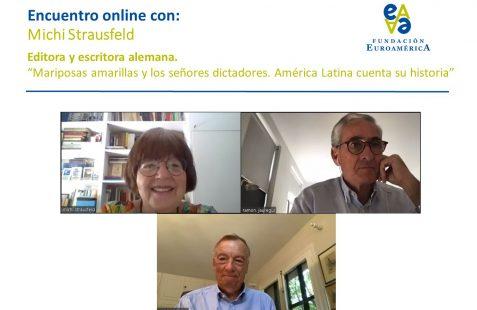 Michi Strausfeld, Ramón Jáuregui y Carsten Moser
