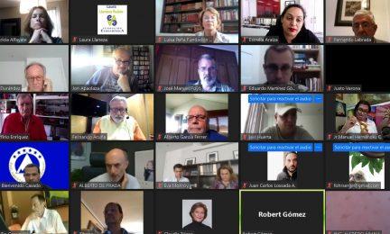 Participantes en el encuentro online
