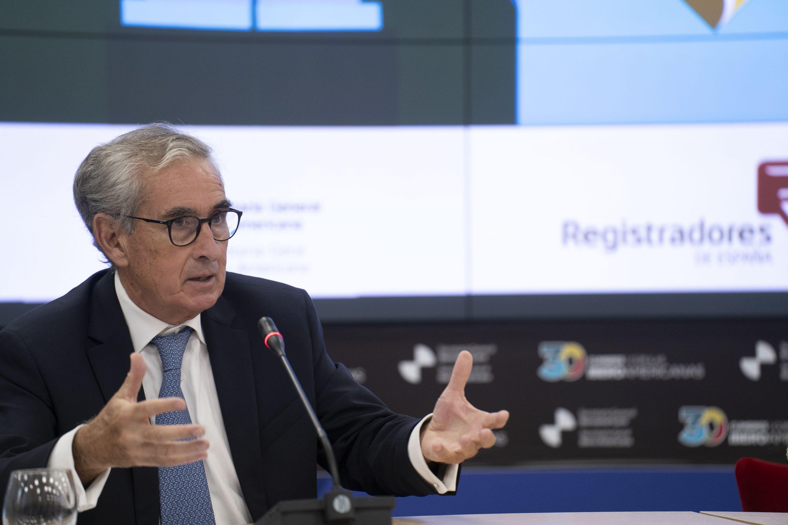 Ramón Jáuregui, durante su intervención