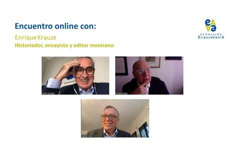 Ramón Jáuregui, Enrique Krauze y Carsten Moser